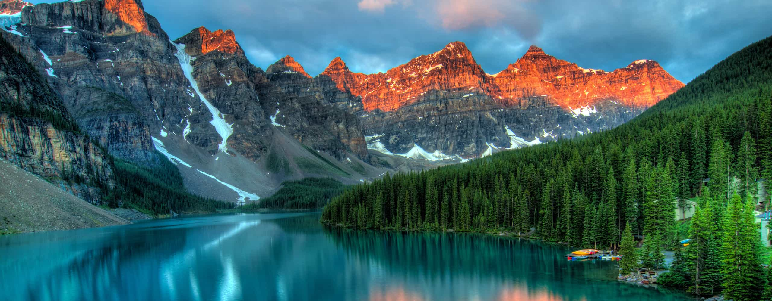 Moraine Lake In Alberta, Canada